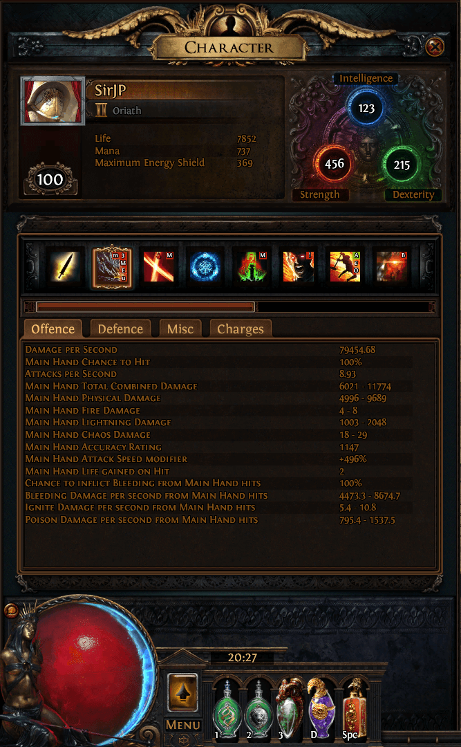 PoE 3.3 Gladiator/Slayer Sunder Build PIC 1